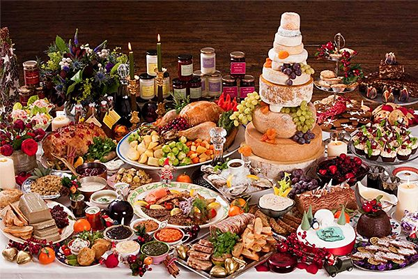 Christmas Dinner Feast Holiday Food