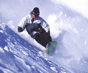 Snowboarding at Le Massif Quebec