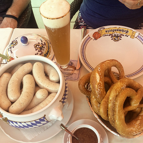 Bavarian breakfast sausages
