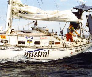 Jesse Martin Solo Sailor on Mistral