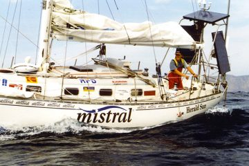 Jesse Martin Solo Sailor on Mistral