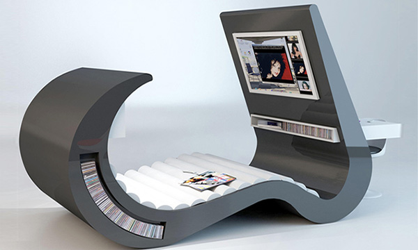 Futuristic Entertainment Couch Chair