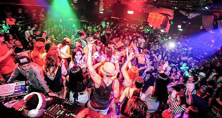 Nightclub, nightlife in Bangkok, Thailand.